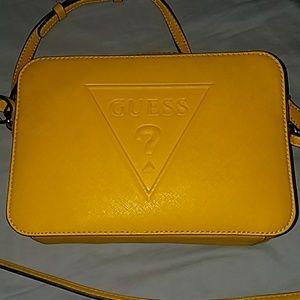 GUESS yellow side strap purse